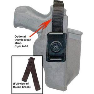 DeSantis Gunhide Thumb Break Strap with Snap Closure for N87 Holster Large Nylon Black N99BJG2Z0