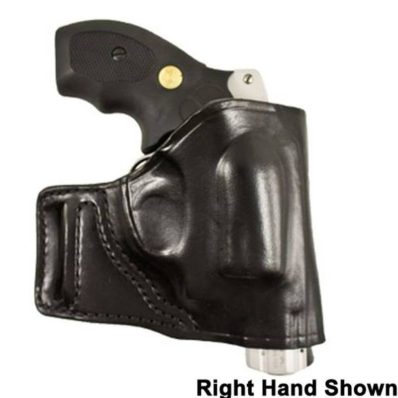 DeSantis E-GAT Belt Slide Holster S&W J Frame Left Hand Leather Black 115BB02Z0