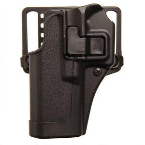 """BLACKHAWK! SERPA CQC Concealment OWB Paddle/Belt Loop Holster SIG Sauer P250/P320 4.7"""" Barrel Models Left Hand Polymer Matte Black Finish"""