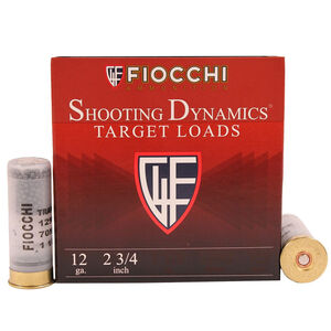 "Fiocchi Shooting Dynamics Steel Shot Low Recoil 12 Gauge Ammunition 2-3/4"" #7 1 oz Steel Shot 1200fps"