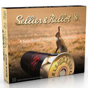 """Sellier & Bellot Buckshot 12 Gauge Shotshell 10 Rounds 2 3/4"""" #1 Buck 12 Pellets 1 1/8 Ounce"""