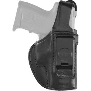 Aker Leather 160 Spring Special Executive GLOCK 19/23 IWB Holster Right Hand Leather Plain Black H160BPRU-GL1923
