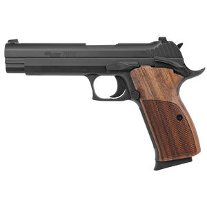 "SIG Sauer P210 Standard 9mm Luger Semi Auto Pistol 5"" Barrel 8 Rounds Walnut Grips Black Nitron Finish"