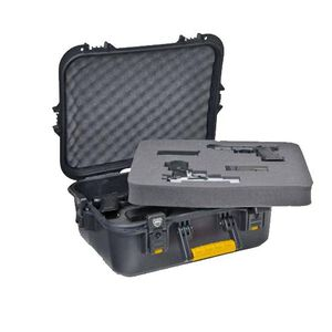 "Plano Gun Guard AW Series XL Pistol and Accessory Hard Case Polymer 20.75"" x 16.5"" x 9.25"" Yellow/Black 108031"