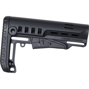 NcSTAR Tactical AR-15 Collapsible Stock Fits Mil-Spec Buffer Tubes Polymer Black