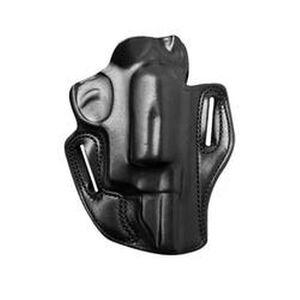 """DeSantis Speed Scabbard Belt Holster Ruger SP101 2"""" Barrel Revolver Right Hand Draw Leather Black 002BA22Z0"""