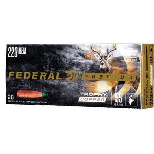 Federal Trophy Copper .223 Rem Ammunition 20 Rounds 55 Grain Copper Alloy Lead Free 3240 fps