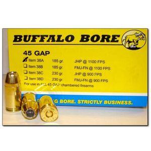 Buffalo Bore .45 GAP 230 Grain JHP 20 Round Box