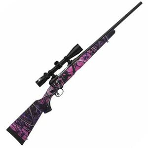 """Savage 11 Trophy Hunter XP Youth Bolt Action Rifle .308 Winchester 20"""" Barrel 4 Rounds Synthetic Stock Muddy Girl Camo Nikon 3-9x40 Scope Matte Black 22208"""