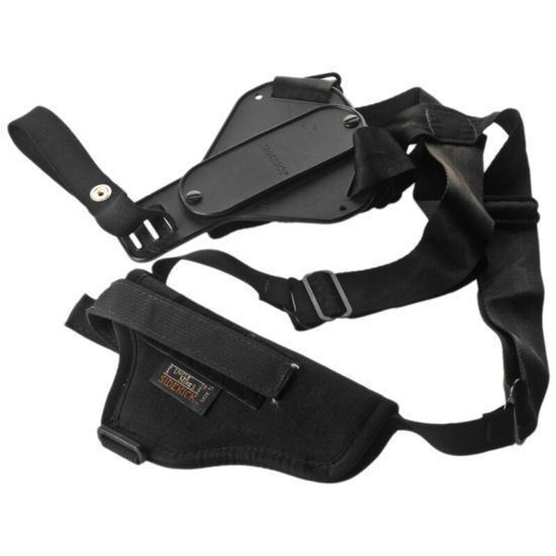 """Uncle Mike's Sidekick 5""""-6.5"""" Barrel Medium/Large Double Action Revolvers and 4.63""""-5.5"""" Barrel Single Action Revolvers Vertical Shoulder Holster Right Hand Nylon Black 83031"""
