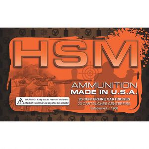 HSM .223 Remington Ammunition 50 Rounds Hornady V-Max 55 Grains HSM-223-15