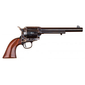 "Cimarron Model P Revolver .357 Mag 7.5"" Barrel 6 Rounds Case Hardened Frame Walnut Grips Blued MP504"