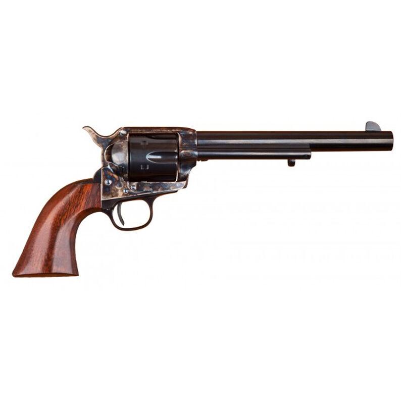 """Cimarron Model P Revolver .357 Mag 7.5"""" Barrel 6 Rounds Case Hardened Frame Walnut Grips Blued MP504"""