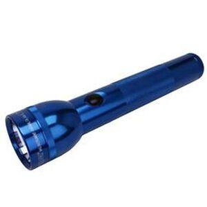 Maglite 2 Cell D LED Flashlight 134 Lumens 2x D Batteries Click Switch Aluminum Body Blue S2D116