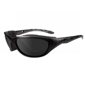 Wiley X Airrage Men's Safety/Sun Glasses Matte Black Frame with Smoke Grey Lens