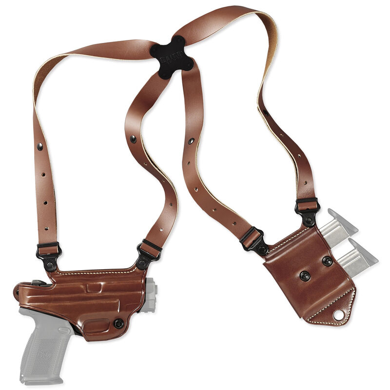 Galco Miami Classic II GLOCK20/21/20/30 and 41and Similar Shoulder Holster System Right Hand Leather Tan