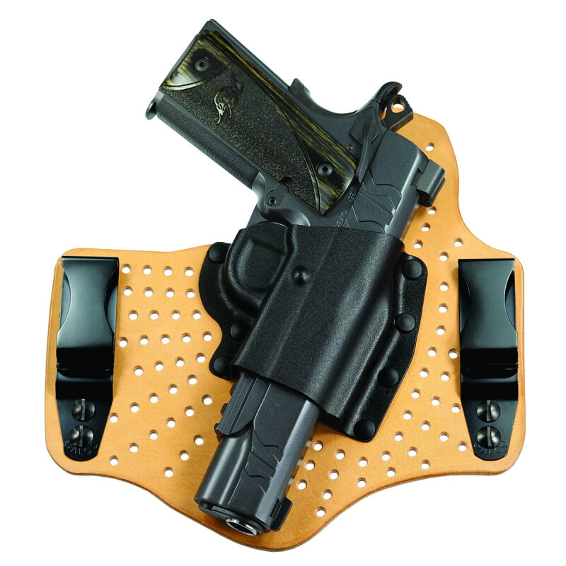 """Galco KingTuk Air Colt 1911 5"""" Barrel/Kimber/Remington/Ruger/S&W Tuck-able IWB Holster Right Hand Draw Leather/Kydex Black"""