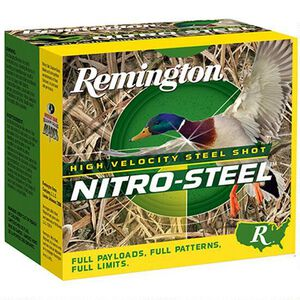 "Remington Nitro Steel 10 Gauge Ammunition 250 Rounds 3-1/2"" #2 Steel 1-1/2 Ounce NSI10M2"