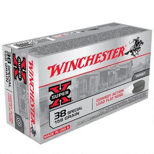 Winchester Super X .38 Special Ammunition 500 Rounds, LFN, 158 Grains