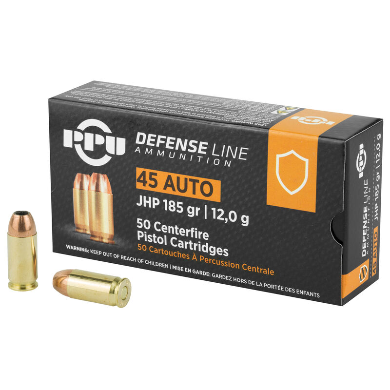 prvi partizan ppu defense 45 acp ammunition 50 rounds 185 grain jacketed hollow point 935fps prvi partizan ppu defense 45 acp ammunition 50 rounds 185 grain jacketed hollow point 935fps