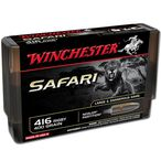 Winchester Safari .416 Rigby Ammunition 20 Rounds Nosler Partition 400 Grains S416RSLSP