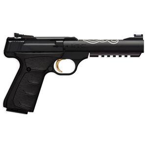 "Browning Buck Mark Black Lite Semi Auto Pistol .22 LR 5.5"" Barrel 10 Rounds Adjustable Sights UFX Grips Matte Black 051525490"