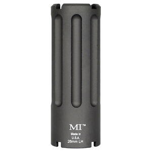 Midwest Industries Blast Can M92/M85 Krink Muzzle Device .30 Caliber Threaded 26mm Left Hand 6061 Aluminum Hard Coat Anodized Matte Black