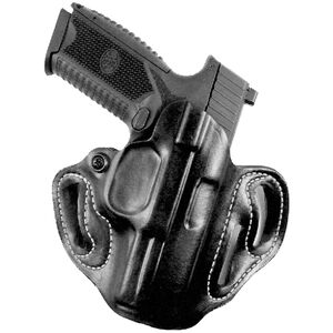 DeSantis Speed Scabbard Belt Holster Fits SIG P320 with Red Dot Right Hand Leather Black