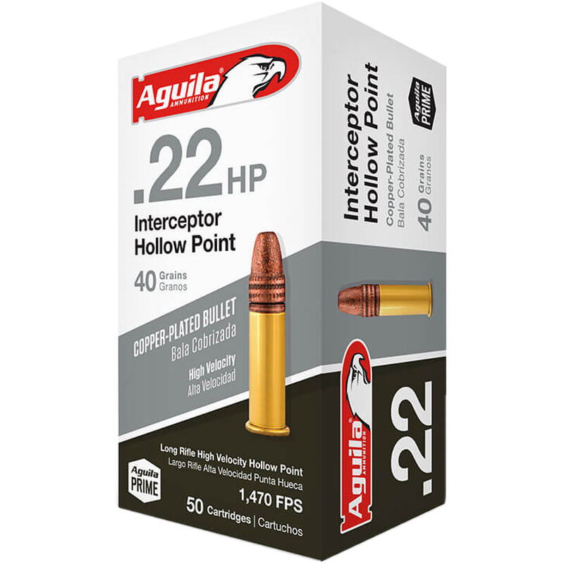 Image result for aguila 40 grain hollow point 22 ammo