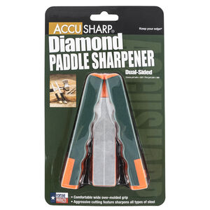 Accusharp Diamond Paddle Folding Fine Coarse Diamond Sharpener Over molded Rubber Handle