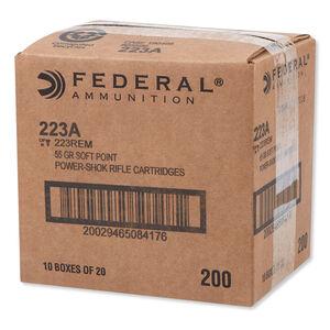 Federal Power-Shok .223 Remington Ammunition 55 Grain JSP 3240 fps