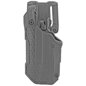 BLACKHAWK! T-Series L3D Level 3 Light Bearing Duty Holster Fits GLOCK 17/19/22/23 with TLR-1, 2 Left Hand Polymer Basketweave Finish Black