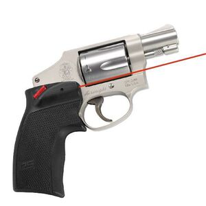 Crimson Trace Defender Series Accu-Grip Red Laser S&W J Frame Round Butt Revolver 1x 1/3N Lithium Battery Polymer Body Black DS-124
