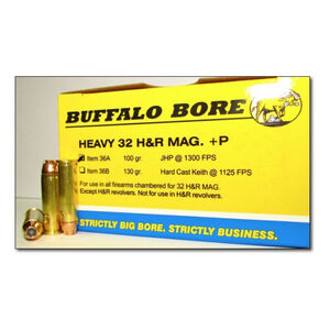 Buffalo Bore .32 H&R Magnum +P Ammunition 20 Rounds JHP 100 Grains 36A/20