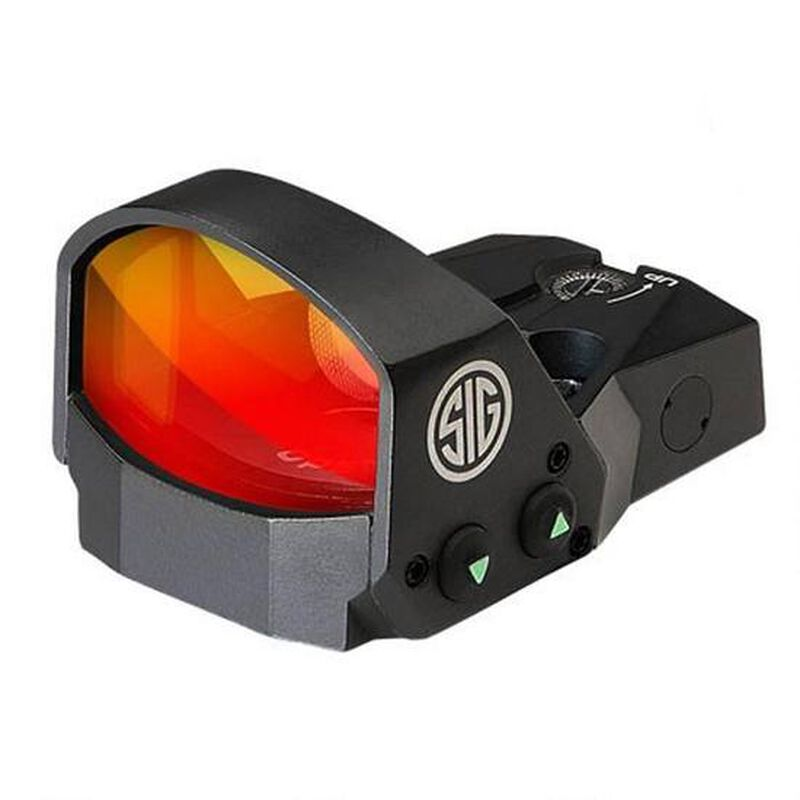 SIG Sauer Romeo1 1x30 Reflex Sight 3 MOA Red Dot Reticle 1 MOA Adjustments CR1632 Battery Sight Only Black