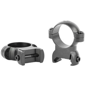 "Leupold LRW Cross Slot Rings 1"" Med Steel Matte Black"