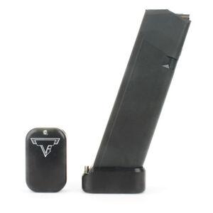 Taran Tactical Innovations Firepower Base Pad Kit +2/+3 GLOCK 19/23 CNC Machined Billet Aluminum Anodized Black Finish