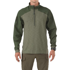 5.11 Tactical Rapid Response Quarter Zip Polyester/Spandex Large TDU Green 72415190L