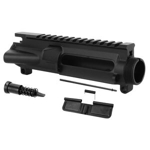 TacFire Forged AR-15 Stripped Upper Receiver Mil-Spec 7075-T6 Aluminum Includes Forward Assist and Ejection Port Cover Black Hardcoat Anodized Finish