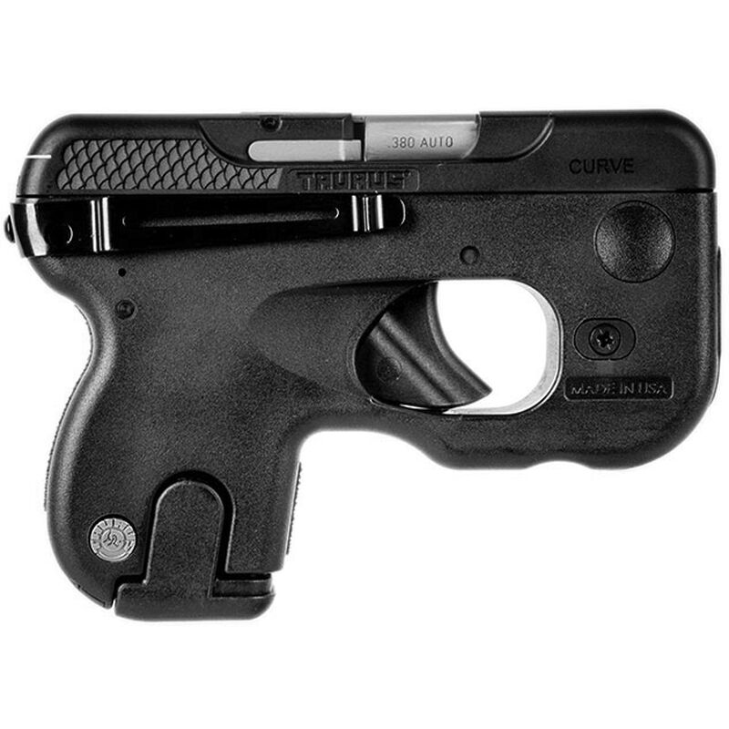 "Taurus 180 Curve .380 ACP Semi Auto Pistol 2.7"" Barrel 6 Rounds Black"