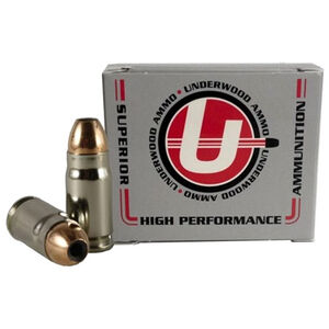 Underwood Ammo 357 SIG Ammunition 115 Grain Nosler Jacketed Hollow Point Projectile 1550 fps