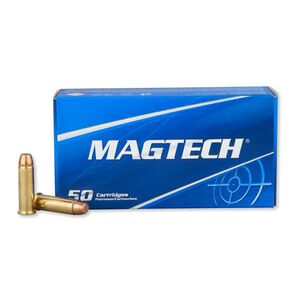 Ammo .38 Special Magtech Sport Ammunition 158 Grain Full Metal Jacket Flat Nose 755 fps 50 Rounds 38P