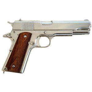 "Cimarron 1911A1 Semi Auto Handgun .45 ACP 5"" Barrel 8 Rounds Wood Grips Nickel Finish 1911N00"