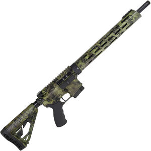 "Alexander Arms Hunter 6.5 Grendel AR-15 Semi Auto Rifle 18"" Threaded Barrel 10 Rounds M-LOK Compatible Freefloat Handguard Collapsible Stock Woodlands Camo Finish"