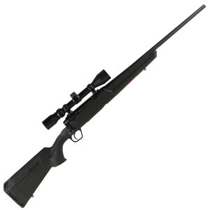"""Savage Axis XP Compact Bolt Action Rifle .243 Winchester 20"""" Barrel 4 Rounds Detachable Box Magazine Weaver 3-9x40 Riflescope Synthetic Stock Matte Black Finish"""