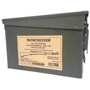 Winchester USA Service Grade .30-06 Springfield Ammunition 100 Rounds 150 Grain M2 Ball FMJ 2740fps