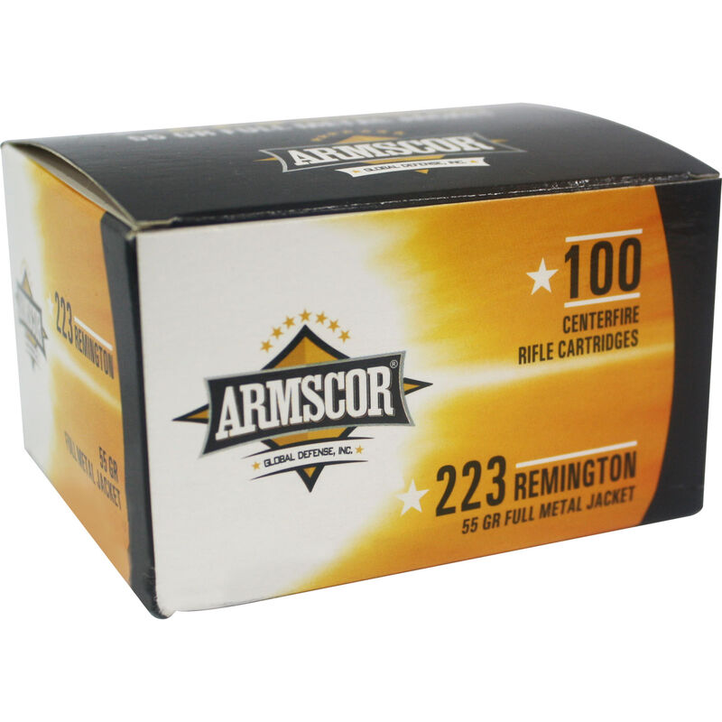 Armscor .223 Remington Ammunition 100 Rounds 55 Grain Full Metal Jacket 3050fps