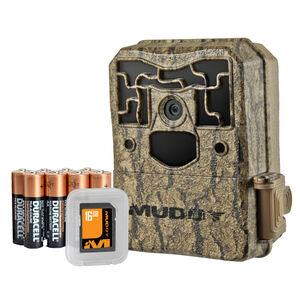 Muddy MTC800K Pro Cam 24 Bundle Hunting Trail Camera 24MP LCD Screen 36 LEDs AA Batteries Bark Pattern Camo
