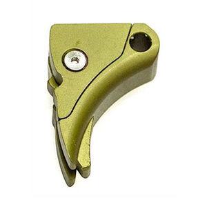 Lone Wolf Ultimate Adjustable Trigger Shoe For GLOCK Aluminum Green LWD-UAT-A-MSODG