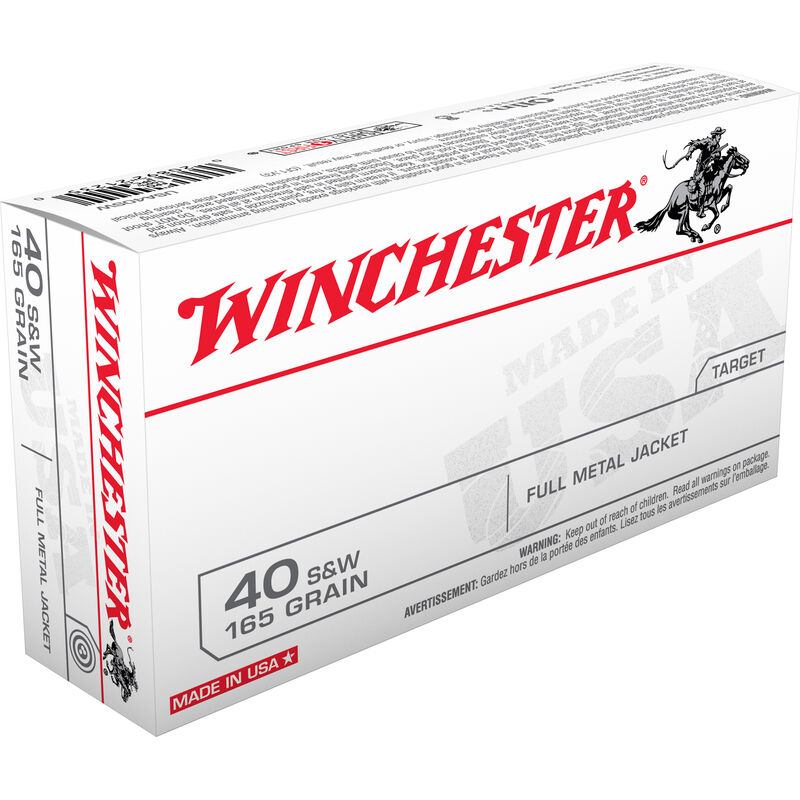 Winchester .40 S&W Ammunition 1000 Rounds FMJ 165 Grains USA40AC